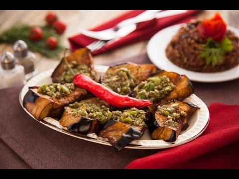 سمك قاروس مقلي + شوربة سمك بني + ارز صيادية + باذنجان بالخل والثوم - برنامج بهارات ج2