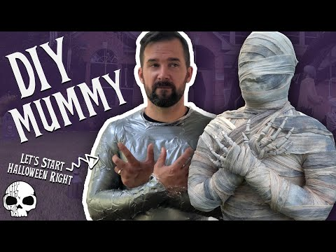 DIY Halloween Mummy (The most fun way to make one!)