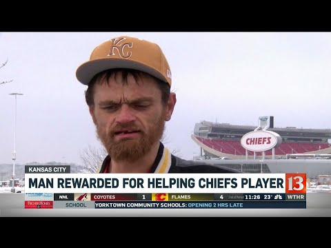 Crystal - VIDEO:   Man Rewarded AFC Tix For Helping CHIEFS player