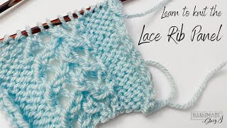 Lace Rib Panel Knit Tutorial - Continental Style