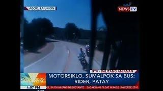 BP Motorsiklo sumalpok sa bus sa Agoo La Union rider patay