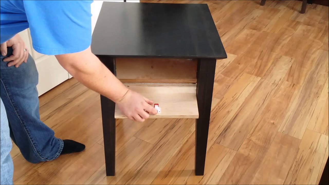 Mag Lock Secret Compartment Coffee Table U0026 Hidden Compartment End Table     YouTube