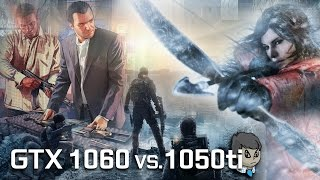 GTX 1060 vs 1050 TI \ Comparison with 10 Games \ GTA V to ME Andromeda