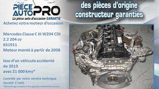 Moteur garanti Mercedes Classe C III W204 CDI 2 2 204 cv 650911