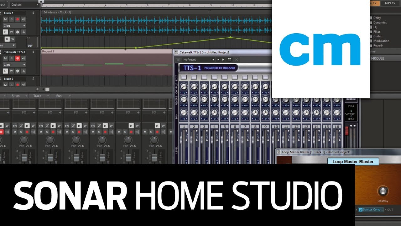 free pc daw worth 49 cakewalk sonar home studio youtube. Black Bedroom Furniture Sets. Home Design Ideas