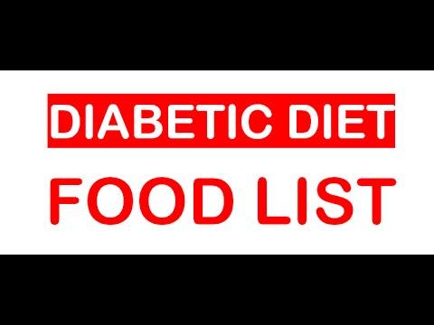 Diabetic Food List