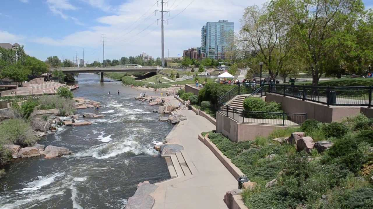 Bike Path Denver Over Looking Confluence Park And The