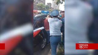 Ոստիկանները բերման են ենթարկել Բաղրամյան 26-ի դիմաց բողոքի ակցիա անողներին