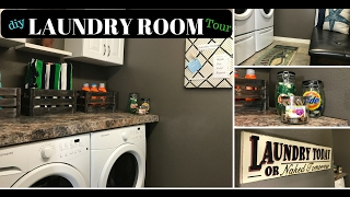 DIY Laundry Room Ideas   How to decorate small space