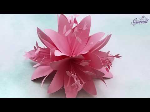 How To Make Paper Lily Flower || DIY Paper Lily || DIY Decor