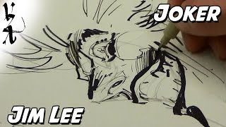 Jim Lee drawing process for the Joker
