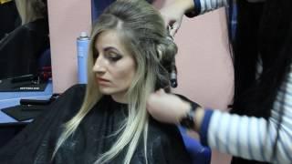 Создание романтического стиля на курсах парикмахеров в школе Евростиль