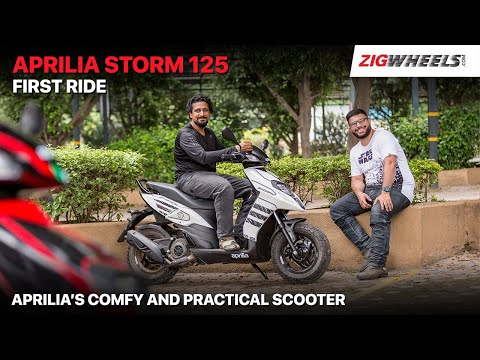 Aprilia Storm 125 BS6 First Ride Review | The Comfy Sporty Scooter For India? | ZigWheels.com