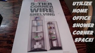 Assembling a 5-Tier Corner Wire Shelf Rack