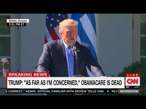 Asked basic question about health care, Trump replies with word salad