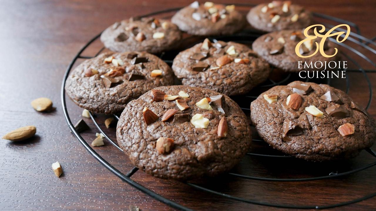 Double Chocolate Chunk Cookies Recipe