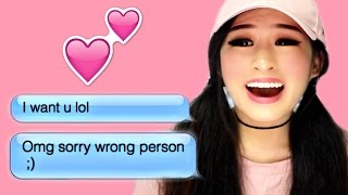 Reacting To Funny Texts Sent To Crush!