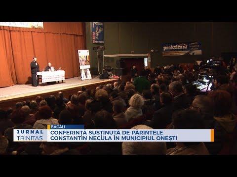 Conferință susținută de părintele Constantin Necula în municipiul Onești