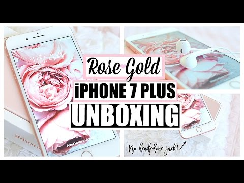 NEW Apple iPhone 7 Plus Unboxing + Tech Review | ROSE GOLD 256 GB