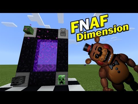 How to go to the FNAF DIMENSION | Minecraft PE