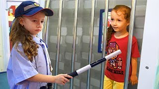 Ulya Pretend Play a Sidewalk Cop | + More Funny Stories for Kids