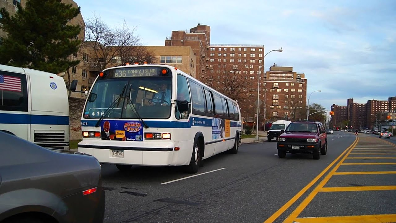 B36 Bus Time >> Mta New York City Bus Rts 06 5078 On The B36 Youtube