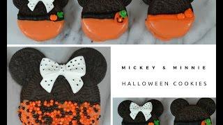 Mickey &amp Minnie Halloween Cookies