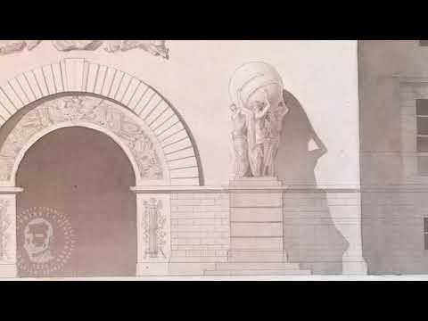 Чертеж и отмывка памятника архитектуры МГХПА