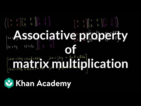 Associative property of matrix multiplication | Matrices | Precalculus | Khan Academy