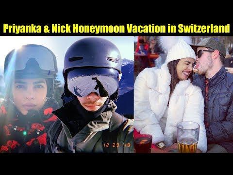 First Visuals of Priyanka Chopra & Nick Jonas Honeymoon Vacation in Switzerland