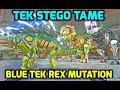 Ark: TAMING NEW TEK STEGO + BLUE TEK REX MUTATION - Official PvP Small Tribe
