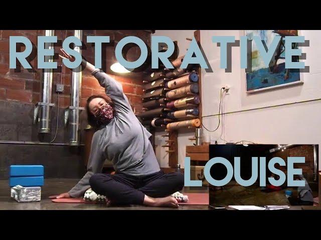Restorative Yoga w/ Louise - Special PATRON SAINT Live Studio Class - Common Bond Yoga - 11/15/20