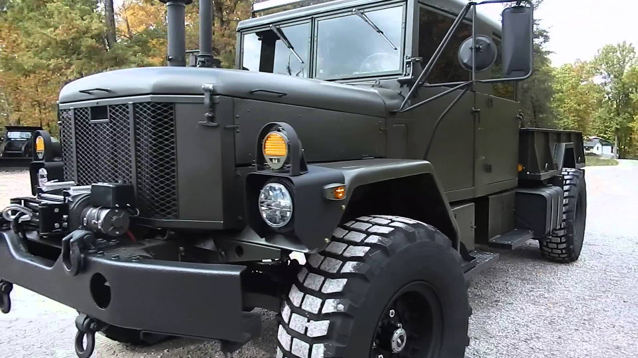 Deuce And A Half Camper >> Bobbed Crew cab M35A3 Custom build C&C Equipment 812-336-2894 - YouTube