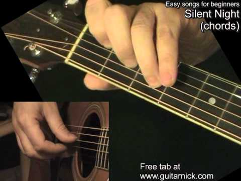 SILENT NIGHT: Guitar Chords + TAB By GuitarNick