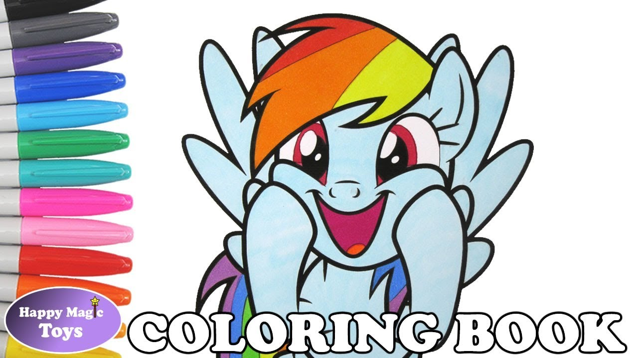 Rainbow Dash Coloring Book Page MLP My Little Pony Rainbow Dash ...