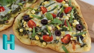 How to Make Flatbread Pizza   Hilah Cooking