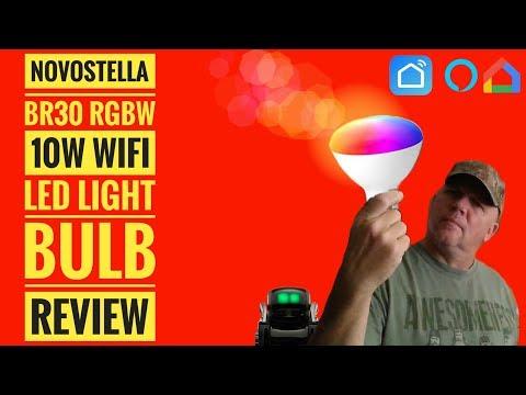 Novostella BR30 10W LED RGBW Smart Bulb Works With SmartLife Alexa Google Home IFTTT