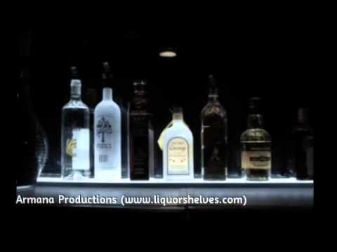 LED Lighted Liquor Bottles Display Design Ideas - YouTube