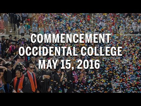 Occidental College Commencement 2016