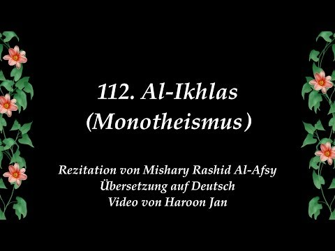 Quran 112 Al-Ikhlas German Translation