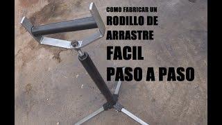 COMO HACER UN SOPORTE DE RODILLO/RODILLO DE ARRASTRE PARA CORTAR MADERA Y METAL PASO A PASO