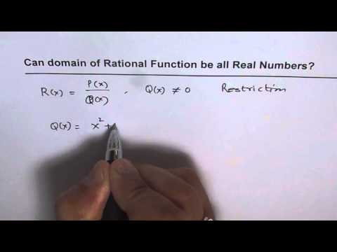 Can Domain of Rational Function be All Real Numbers