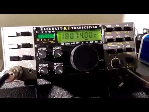 SAMOA 18 MHZ CW WITH ELECRAFT K2