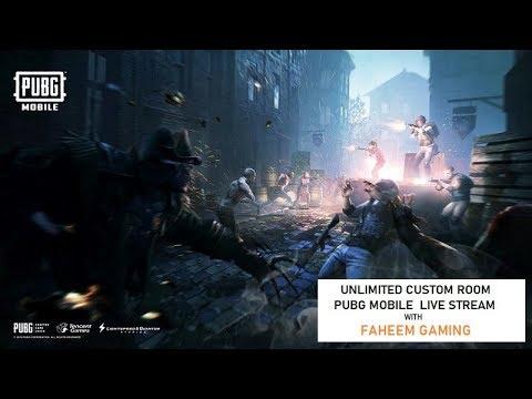 Unlimited Custom Room Pubg Mobile LIVE   Faheem Gaming Live Stream #customrooms