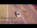 DJI Phantom 4 active track Follows a Car HD quality