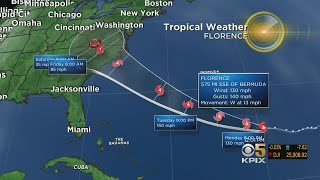 Hurricane Florence Grows To Category 4, Threatens Carolinas