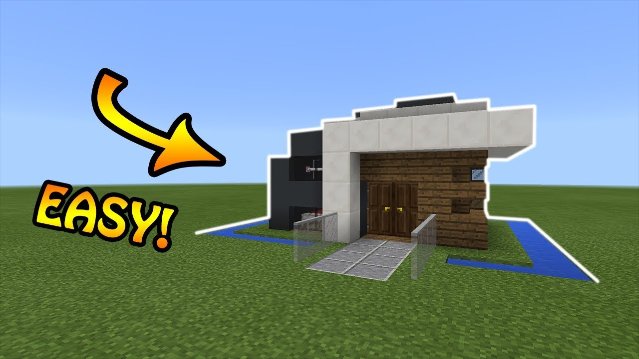 Minecraft Simple Small Modern House Tutorial 3 YouTube