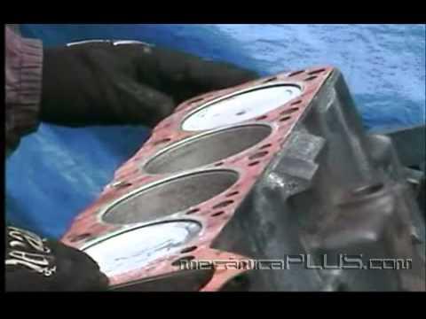 Ajuste de Motor NISSAN 2.4 5a parte - Colocando la cabeza del motor 1 - www.mecanicaplus.com