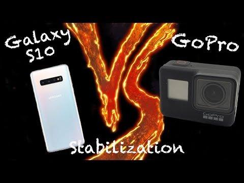 GoPro Hero 7 Black Vs. Samsung Galaxy S10 - Hypersmooth Vs. Super Steady