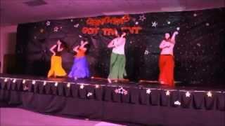 Group dance: Shubharambh, Jhalla wallah, Radha, Naino mein sapna